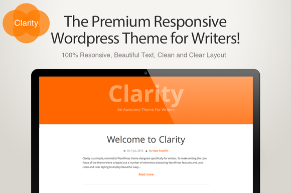 Clarity A Writers WordPress Theme