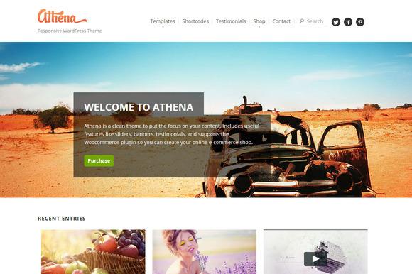 Athena WordPress E-Commerce Blog