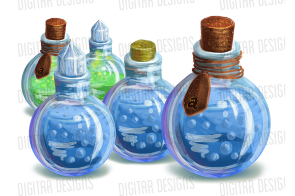 Green And Blue Potions