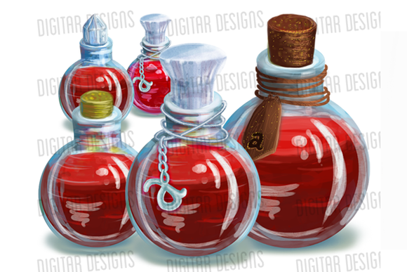 Red Magic Potions 4 Levels