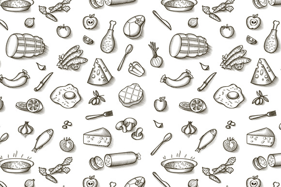 Vintage Food Patterns