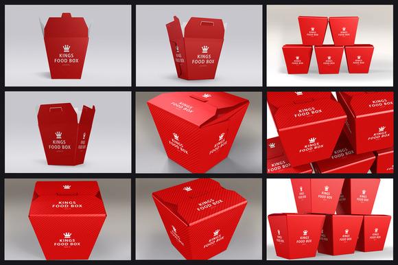 Food Boxes Bundle Mock-up Template