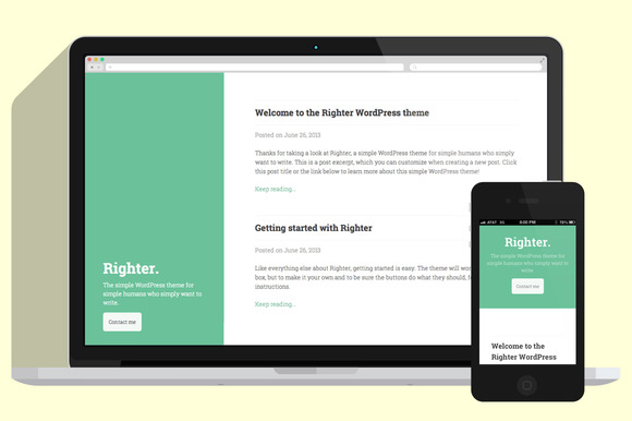 Righter A Simple WordPress Theme