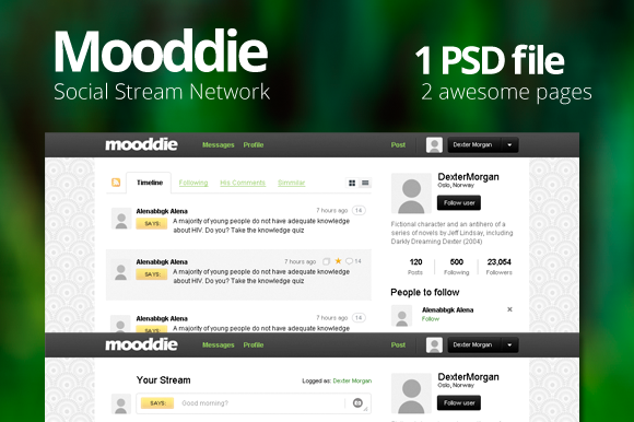Mooddie Social Stream Network Int