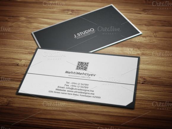 Clean QR Code Business Card #2