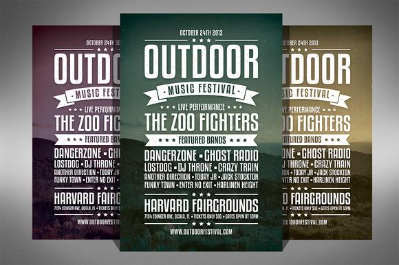 Vintage Music Festival Flyer