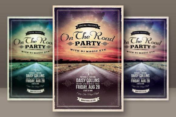 Retro Grunge Party Flyer 2