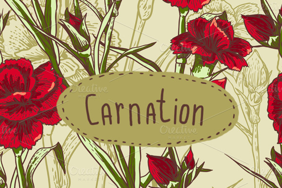 Seamless Background With Flower Carn