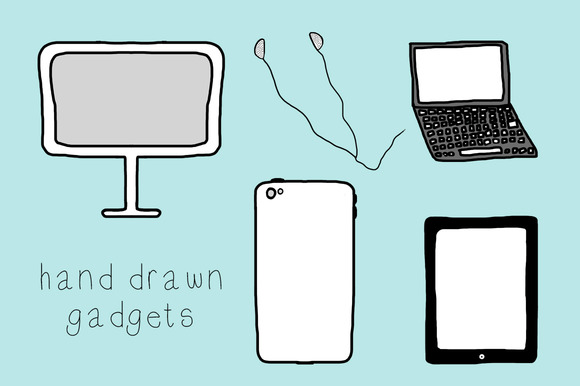Hand Drawn Gadgets