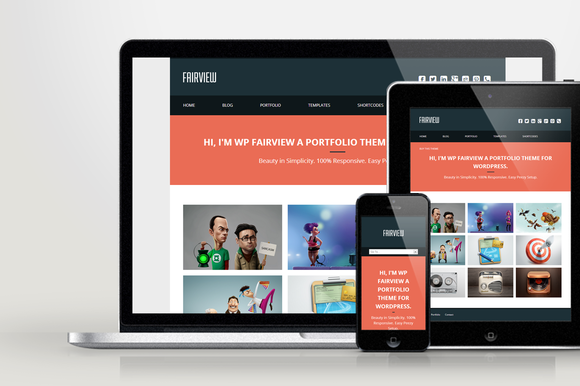 WP Fairview Responsive Folio Theme