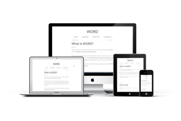 Word-Simple Minimal Blogging Theme