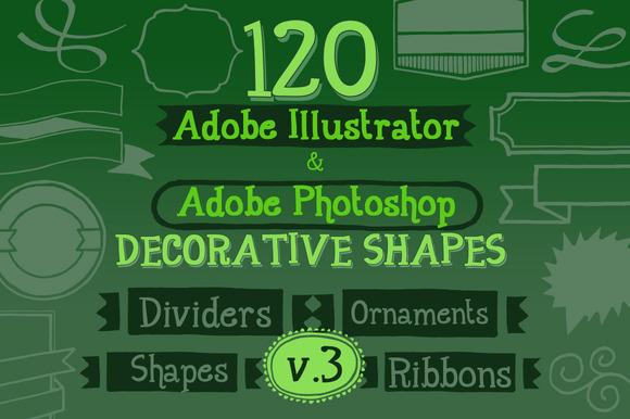120 Handwritten Decorative Shapes 03