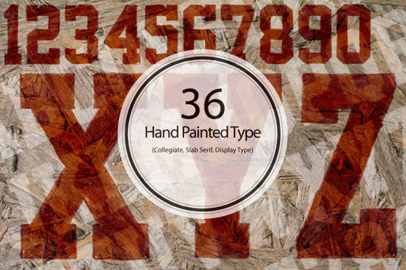 36 Hand Painted Type