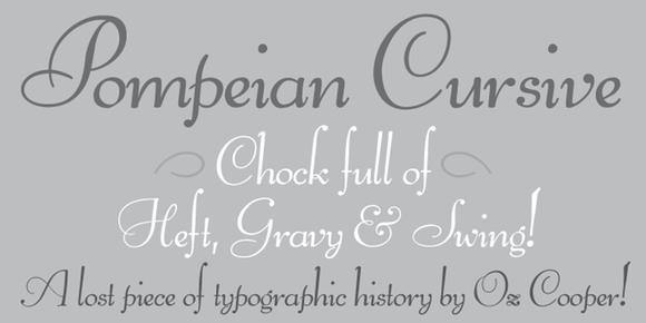 Pompeian Cursive