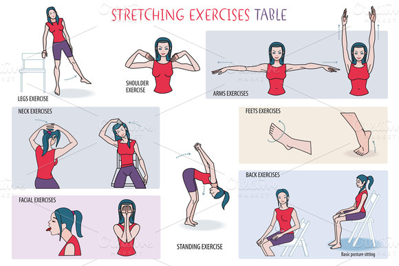 Stretching Exercises Table