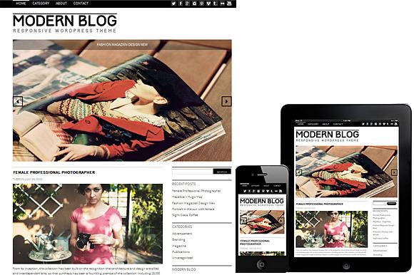 Modern Blog WordPress Theme