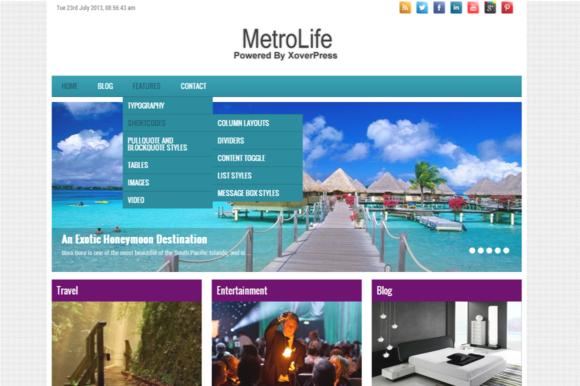 MetroLife Multi-Purpose WP Theme