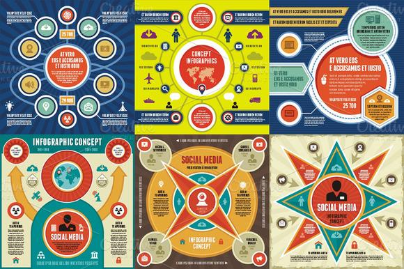 Infographic Concept 6 Vectors
