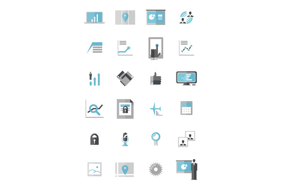 Modern Business Data Icons