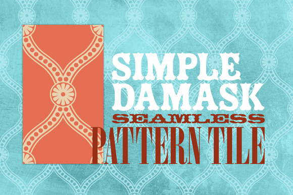 Simple Damask Seamless Pattern Tile