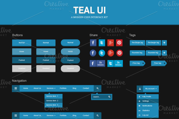 Teal UI Kit
