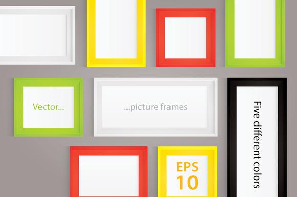 Vector Illustration Picture Frames
