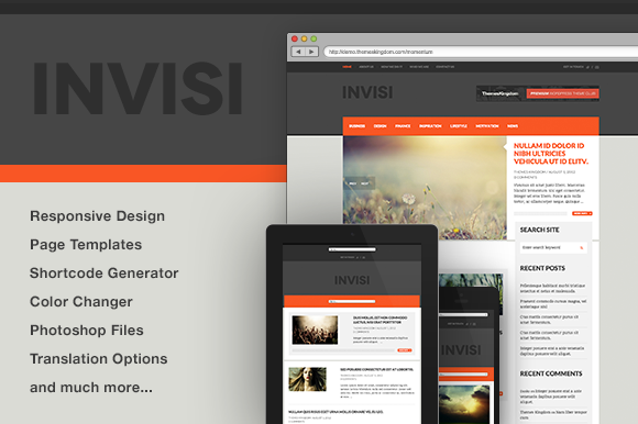 Invisi News Blog WP Theme