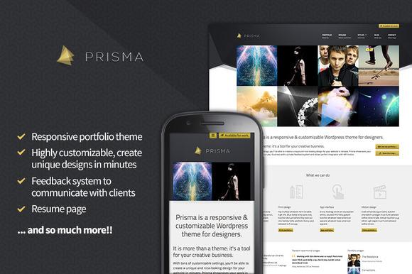 Prisma Reponsive WordPress Portfolio