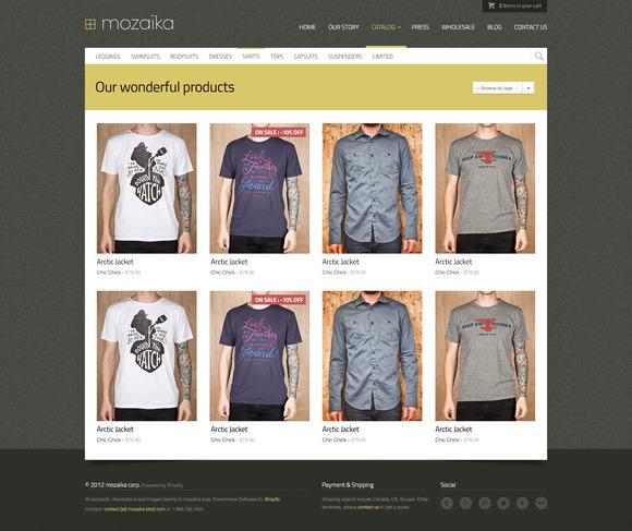Mozaika Responsive Shopify Theme