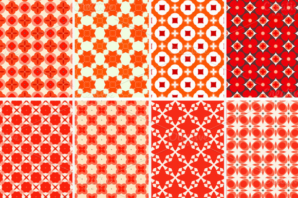 8 Wonderful Beautiful Red Patterns
