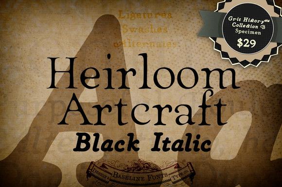 Black Italic Heirloom Artcraft