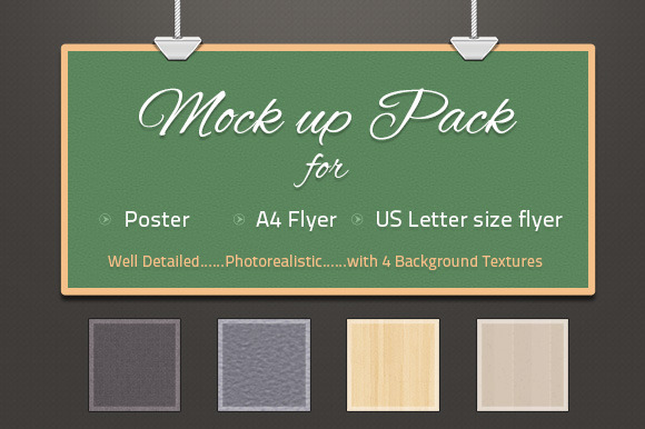 Photorealistic Poster Flyer Mockup