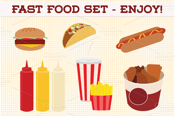 Web Elements Fast Food Set