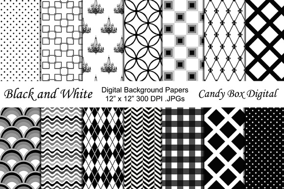 Black And White Digital Backgrounds