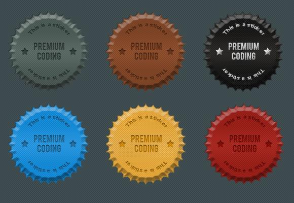 Fancy Cork Stickers Badges