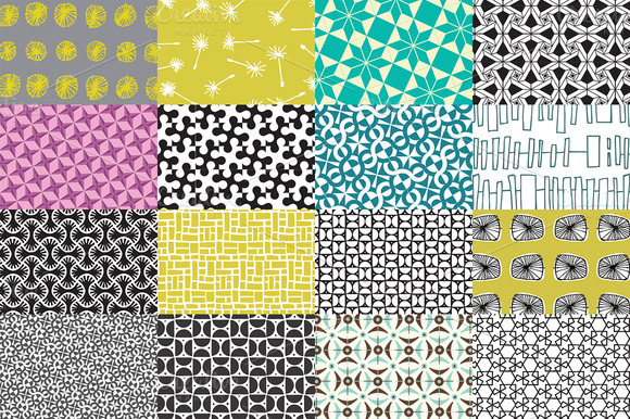 15 Vector Repeat Patterns Pack