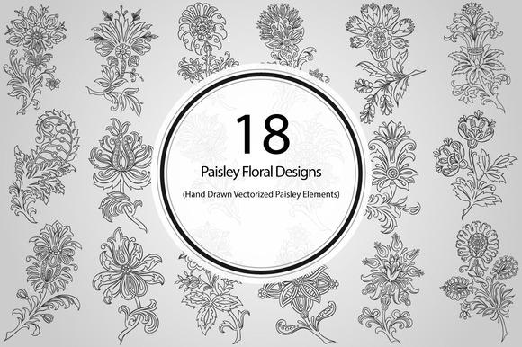18 Paisley Floral Designs
