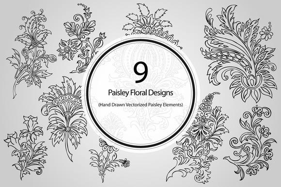 9 Paisley Floral Designs