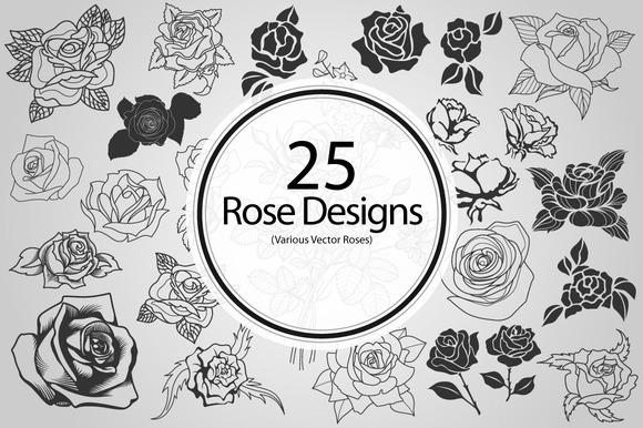 25 Rose Designs