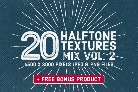 20 Halftone Textures Mix Vol 2