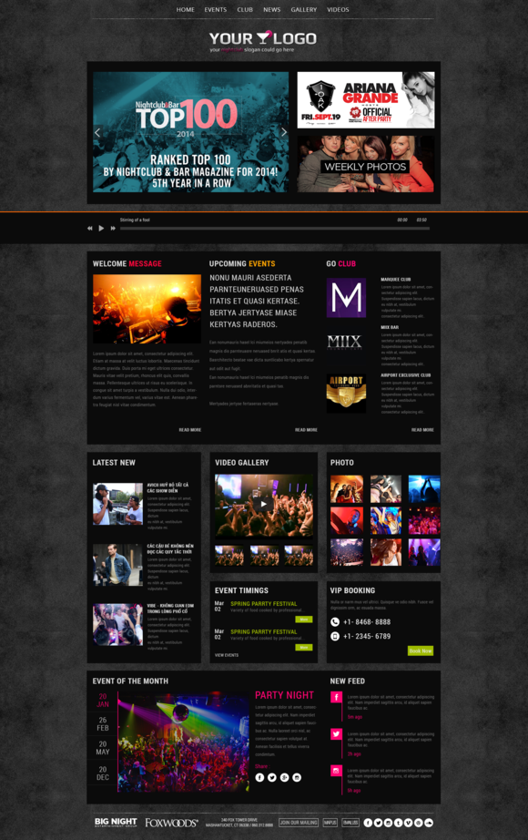 Nightlife Night Club Template