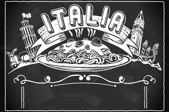 Graphic Element For Italian Menu