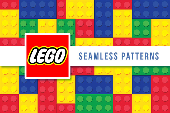 LEGO Set Of Seamless Vector Patterns