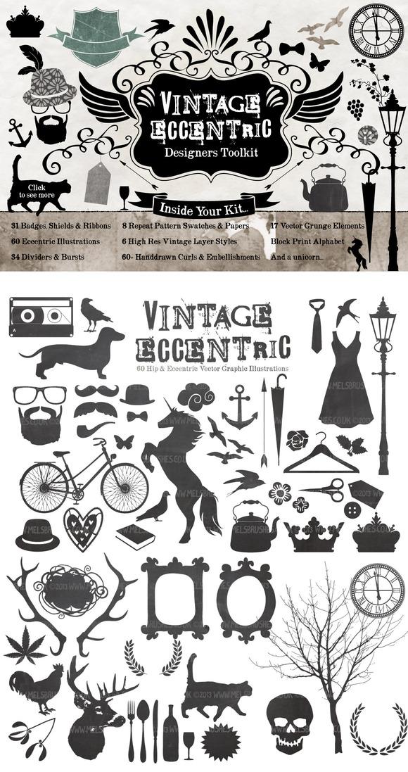 Vintage Eccentic Designers Toolkit