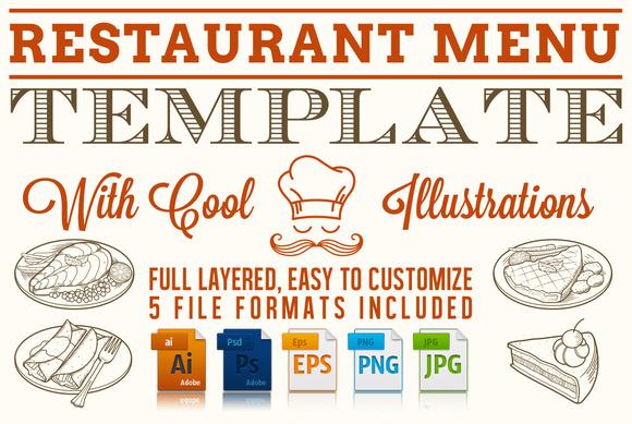 Editable Restaurant Menu Template