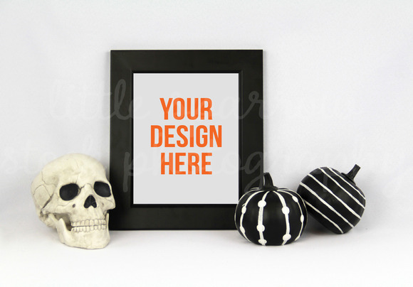 Halloween Styled Frame Mock Up