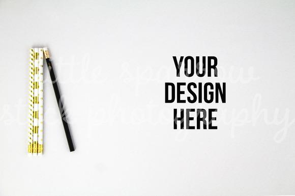 Pencil Styled Desktop Mock Up