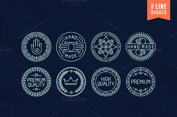 8 Outline Badges And Labels