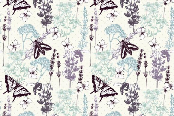 Seamless Herbs Pattern