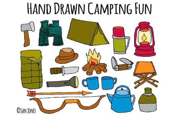Hand Drawn Camping Vector